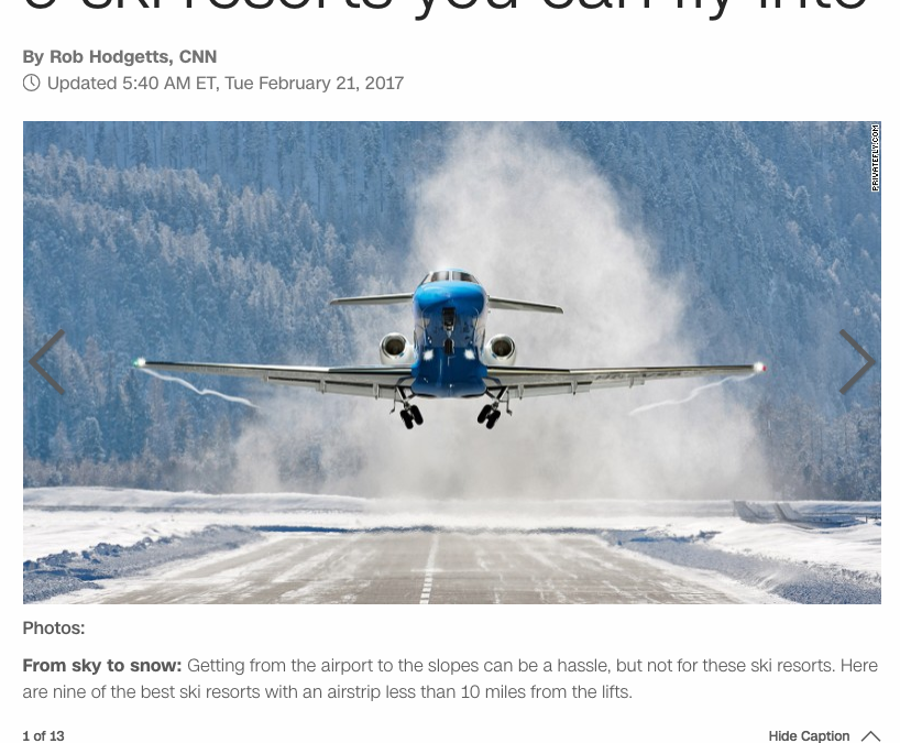 9 ski resorts you can fly into
